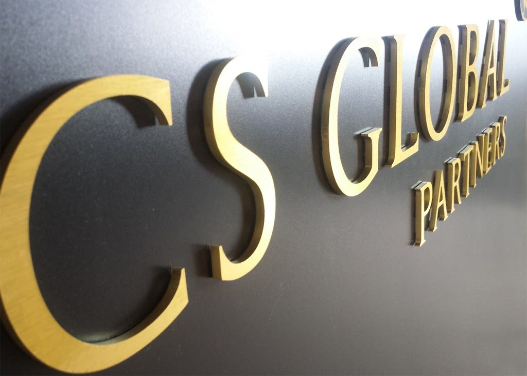 CS GLOBAL PARTNERS Reception sign board