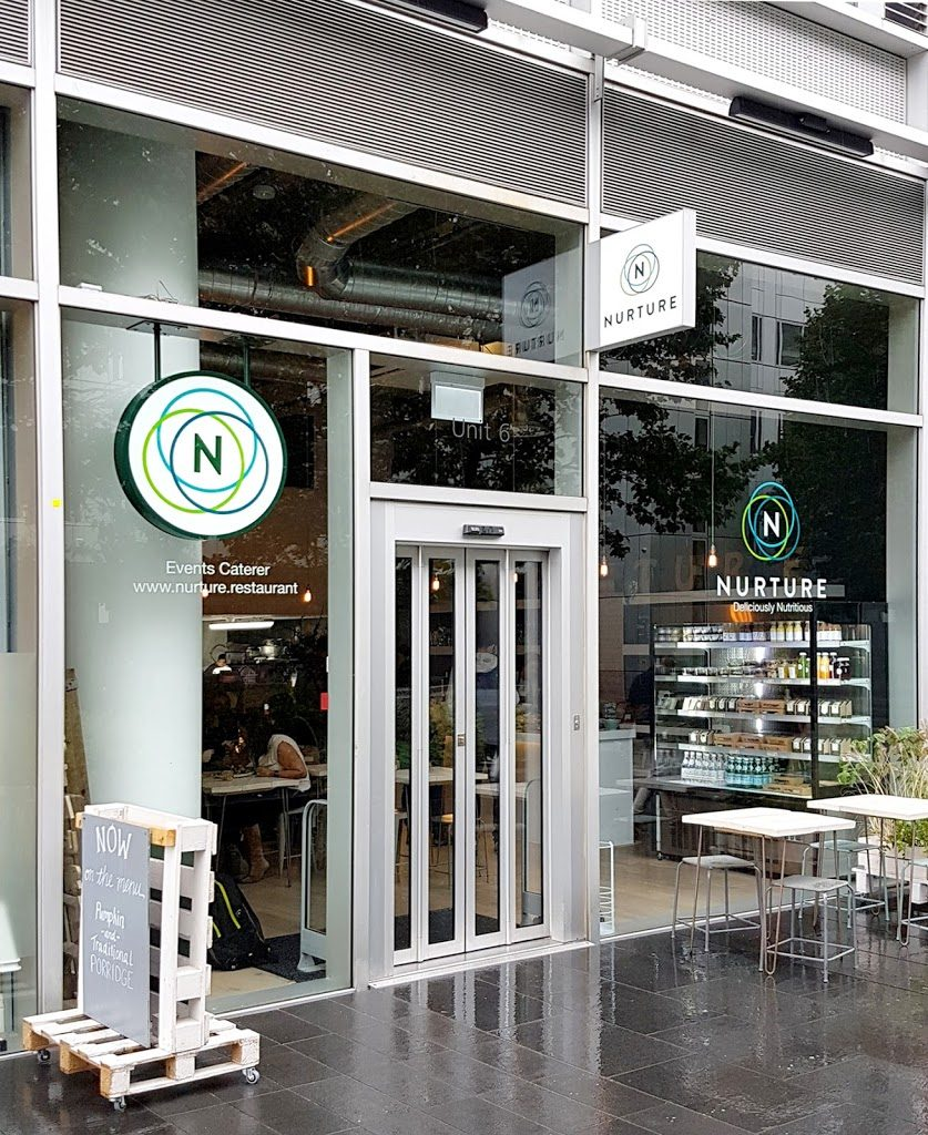 Nurture Restaurants Signage in White City W12 – London.