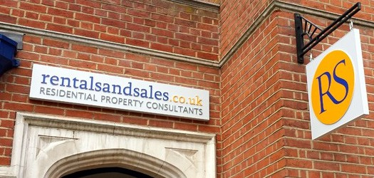 estate agency signage